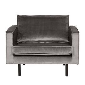 Fauteuil Rodeo velvet taupe BePureHome