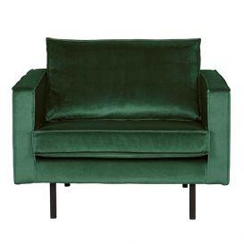 Fauteuil Rodeo velvet green BePureHome