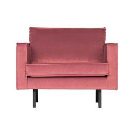 Fauteuil Rodeo velvet pink BePureHome