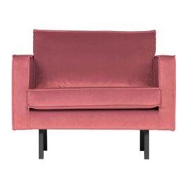 Fauteuil Rodeo pink velvet BePureHome