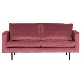Rodeo bank 2,5-zits velvet pink BePureHome