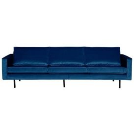 Rodeo bank 3-zits velvet dark blue BePureHome