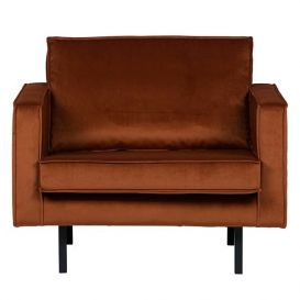 Rodeo fauteuil velvet roest BePureHome