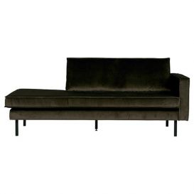 Rodeo daybed rechts velvet dark green