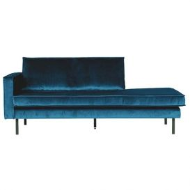 Rodeo daybed links velvet blue BePureHome
