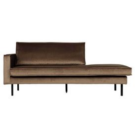 Daybed Rodeo links taupe velvet BePureHome