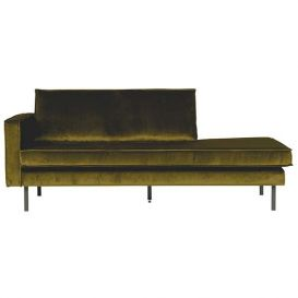Rodeo daybed links velvet olive BePureHome