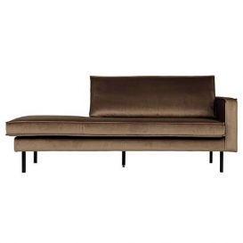 Daybed Rodeo rechts taupe velvet BePureHome