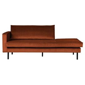 Rodeo daybed links velvet roest BePureHome