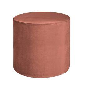 Poef Sara hoog oud roze 46x46x46cm