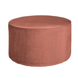 Poef Sara laag oud roze 36x60x60cm