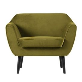 Fauteuil Rocco fluweel olive