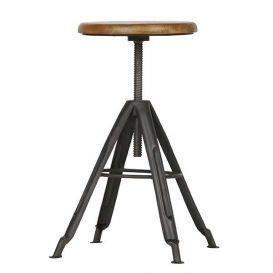 Kruk Brenna metaal met houten top