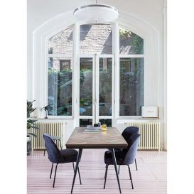 Eetkamertafel Rhombic hout/metaal 180x90cm