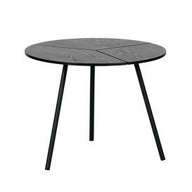 Bijzettafel Rodi M zwart hout/metaal 48cm