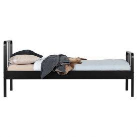 Bed Mees metaal zwart 90x200cm