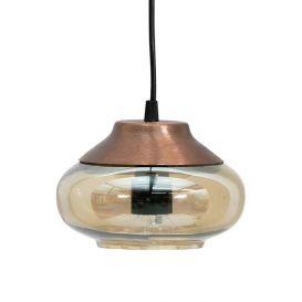 Hanglamp Sultry bruin glas 17 cm