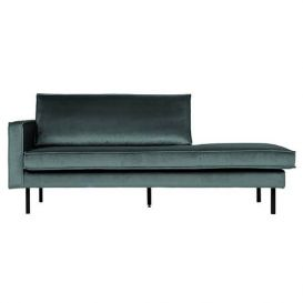 Daybed Rodeo links teal velvet BePureHome