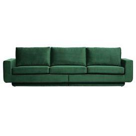 Bank Fame 3-zits groen velvet