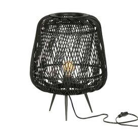 Tafellamp Moza zwart bamboe