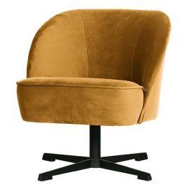 Draai fauteuil Vogue mosterd fluweel