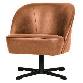Draai fauteuil Vogue cognac leer
