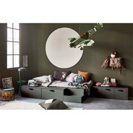 Bed Stage groen/grijs grenen