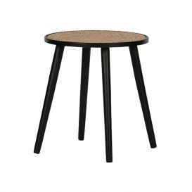 Bijzettafel Ditmer hout naturel/zwart