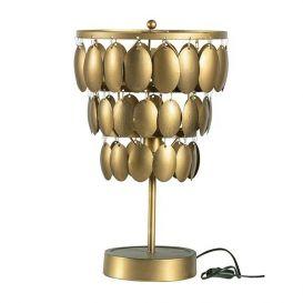 Tafellamp Moondust metaal antique brass
