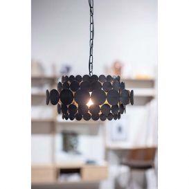 Hanglamp Kaki zwart metaal