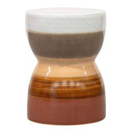 Kruk Glazed chestnut ceramic 43xø33cm