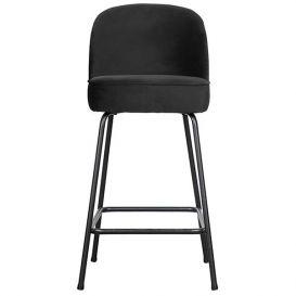 Barstoel Vogue zwart fluweel 65cm