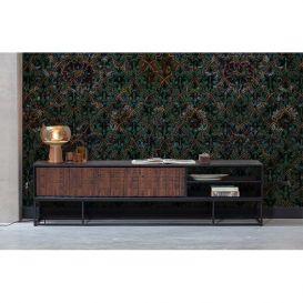 Tv-meubel Nuts walnoot/zwart hout