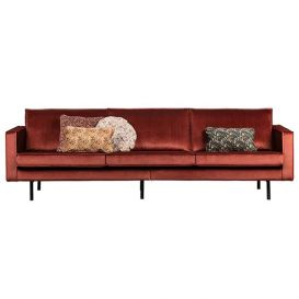 Rodeo bank 3-zits velvet chestnut BePureHome
