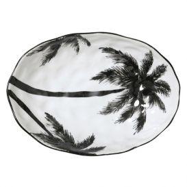 Serveer schaal jungle palms porselein