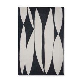 Wanddoek Abstract zwart/wit