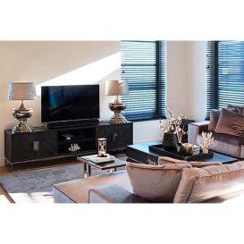 Tv-dressoir Blackbone silver 220cm 4-deurs