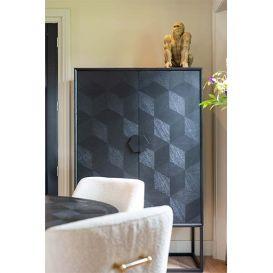 Wandkast Blax zwart eiken 2-deurs