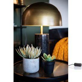 Tafellamp David zwart/brass