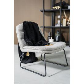 Lounge stoel Bermo licht grijs