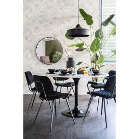 Eettafel rond marmer wit 120cm