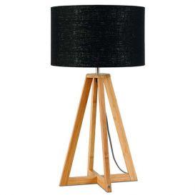 Tafellamp Everest bamboe zwart 4-poot