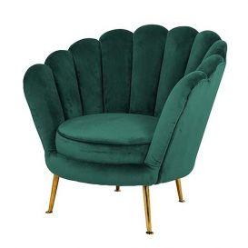Fauteuil Perla green velvet