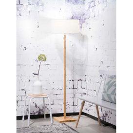 Vloerlamp Fuji bamboe wit