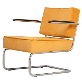 Armstoel Lounge Chair Ridge Rib geel