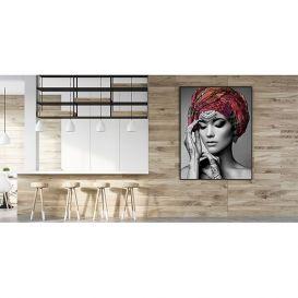 Glasschilderij Vrouw 120x80cm
