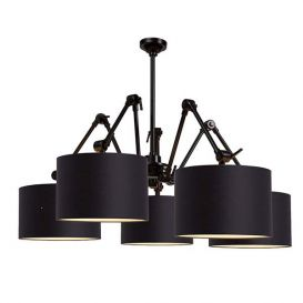Hanglamp Amsterdam zwart 5 arms