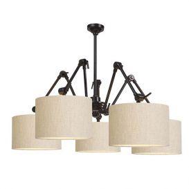 Hanglamp Amsterdam licht linnen 5 arms