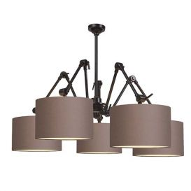 Hanglamp Amsterdam rook grijs 5 arms