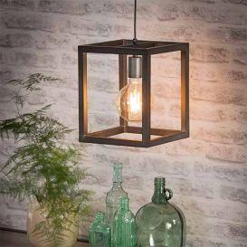 Hanglamp vierkante buis 25x25cm